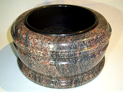 designgrab Grande coupelle funéraire en granit de l'Himalaya - Diamètre : 34 cm