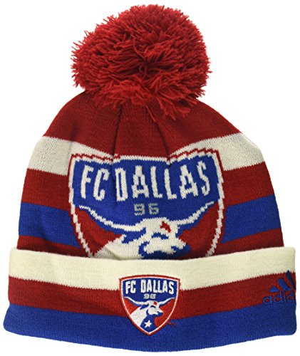 MLS by Outerstuff Boys' Cuffed Knit Hat with Pom, Red Tan, Youth 1 Size