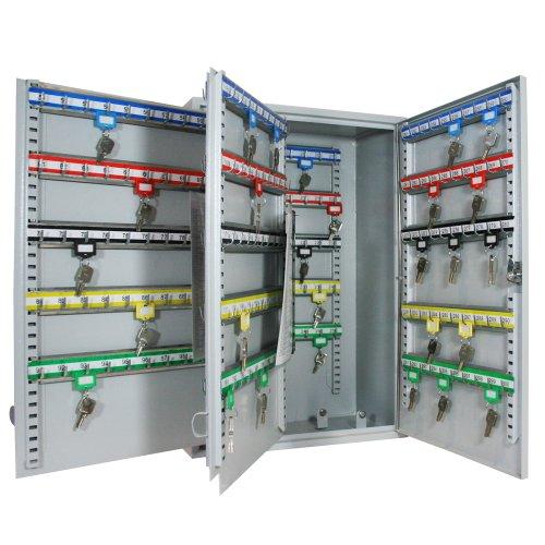 HMF 135300-07 Schlüsselschrank Schlüsselkasten, 300 Haken, 55,0 x 38,0 x 20,5 cm, 14,5 kg, lichtgrau