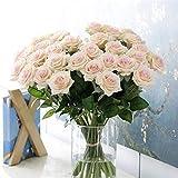 Bouquets de 10 Fleurs Artificielles Fausses Roses pour Maison, Hôtel, Bureau, Mariage, Fêtes, Jardin Décoration Haut de Gamme de Mariage Jardin Décoration Simulation Fleurs Faux (D)