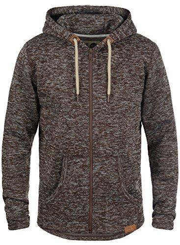 !Solid Leki Herren Fleecejacke Sweatjacke Jacke Mit Kapuze Und Melierung, Größe:S, Farbe:Coffee Bean Melange (8973)