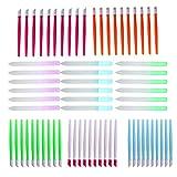 FRCOLOR Empujador de Cutícula de Goma para Uñas Limpiador de Uñas de Vidrio de 68 Piezas con Puntas de Goma para Uñas Herramientas de Arte para Salón de Belleza