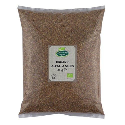 Semillas de alfalfa orgánicas para brotar 500 g por Hatton Hill Organic
