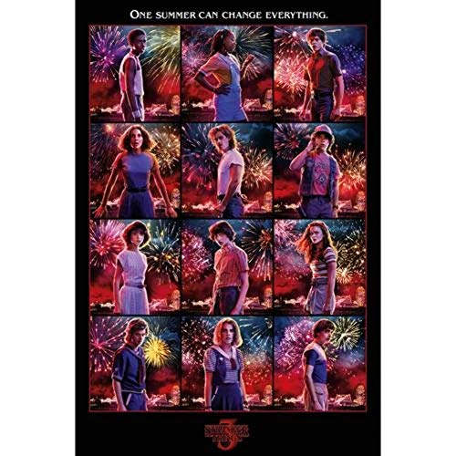 Stranger Things Maxi poster Multicolore 61 x 91,5 cm