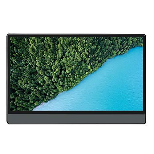 YCHCDR Monitor portátil de 13,3 pulgadas HDR pantalla grande HDMI ultra delgado táctil 1080P HD pantalla - P13AT con táctil + funda sin batería