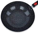 Wok Antiadherente Skillet Wok Non-Sobry Pan Healthy Wok Menos Fume Oily Fume Pan Inducción Cocina de Inducción Estufa de gas aplicable