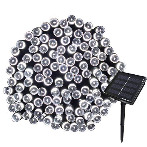 DUGUE 22M Guirnalda de Luces de Energía Solar 8 Modos 200 LED Cadena de Luces Impermeables para Decorar…