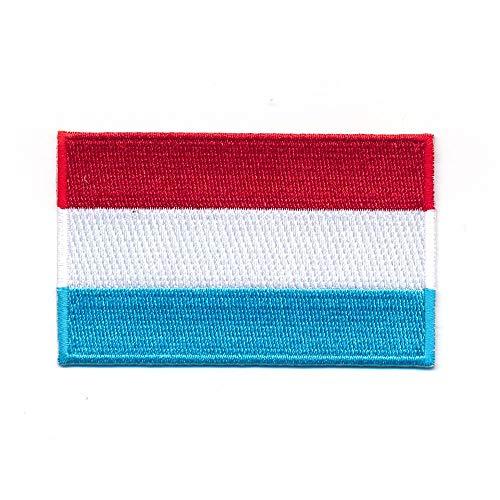 hegibaer 30 x 20 mm Großherzogtum Luxemburg EU Flagge Aufnäher Aufbügler Patch 1172 Mini