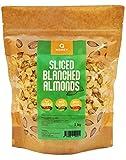 Q Honey - Almendras Peladas Laminadas 1kg | Frutos Secos Naturales por Decoración Tarta, Avena, Pasteles