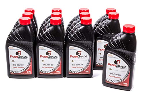 Brad Penn Oil 009-7119-12PK 20W-50 Partial Synthetic Racing Oil 12 pack