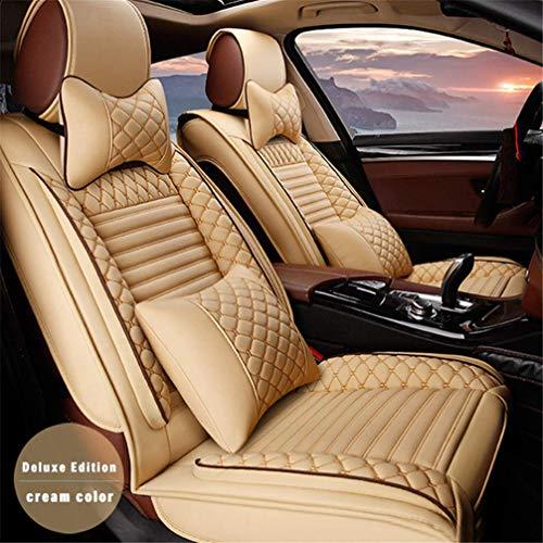 WANLING Fundas & Almohada para Asientos de Coche para Volvo V60 V90 Durable Lujo Cuero Delantero