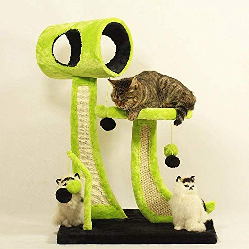 Katten Klimboom Europese Kunst Sisal Kat Klimmen Frame Kat Speelgoed Deeltjesbord + Flanellen Huisdier Platform Activiteitscentrum 55 * 40 * 80cm Geschikt voor Meer Huisdieren