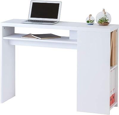 クロシオ デスク 幅100cm 奥行29cm 学習机 コンパクト 薄型 ホワイト