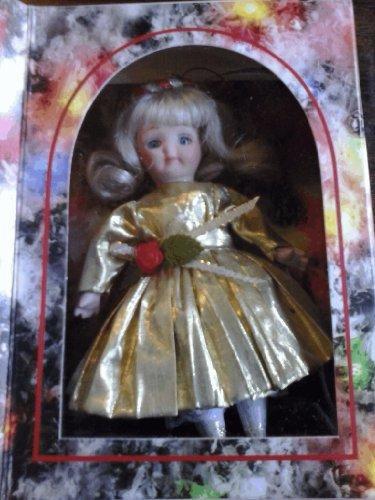Marie Osmond Porcelain Christmas Greeting Card Doll by Knickerbocker