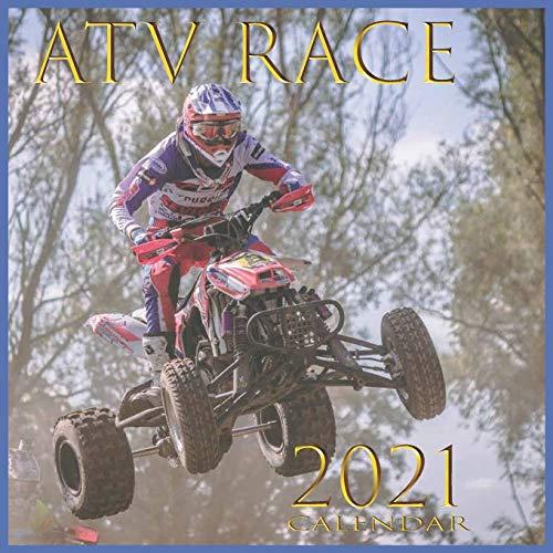 ATV RACE: guad 12-month calendar January 2021 through December 2021
