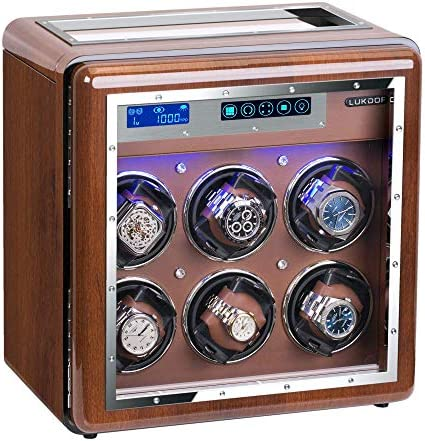Automatic Watch Winder, Luxury Walnut Watch Winder for Rolex with Quiet Motor and Adjustable Upgraded Watch Pillows Battery Powered or AC Adapter Watch Winder Box for Men and Women WeeklyReviewer