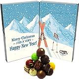 Hallingers Pralinen-Adventskalender - Retro Ski (Buch-Karton)