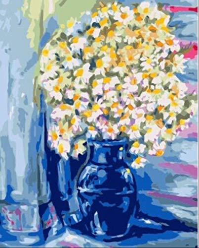 Frameloze schilderijen, door cijfers Kleurplaten door cijfers Acryl Paint Kits, Moderne Abstract Olieverfschilderij Decoratie Afbeeldingen 40x50cm