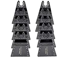 """Sharp Cut"" (OS54013) マルチツール JAPAN 68mm 10点セット 木材・石膏用 マキタ 日立 BOSCH 互換品 カットソー 替刃"