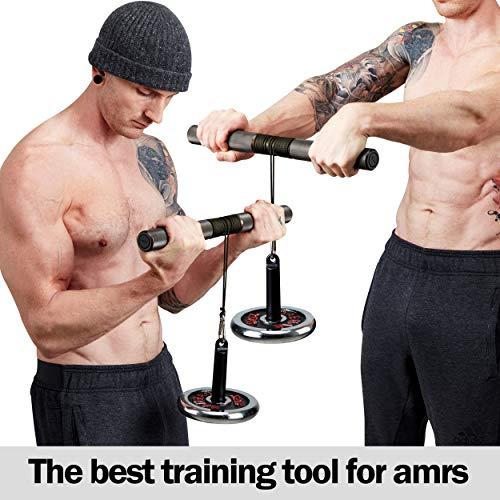 GD Wrist Roller Premium Wrist Exerciser Strengthener Anti-Slip Forearm Blaster Trainer Arm Strength Training Fitness Equipment for Home Gym