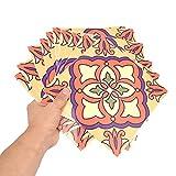LIKJ Pegatinas de Pared, Adhesivo de Papel de Pared fácil de Colorear 20x20 cm / 7,9x7,9 Pulgadas Material de PVC 10 Piezas/Juego para decoración para embellecimiento(6)