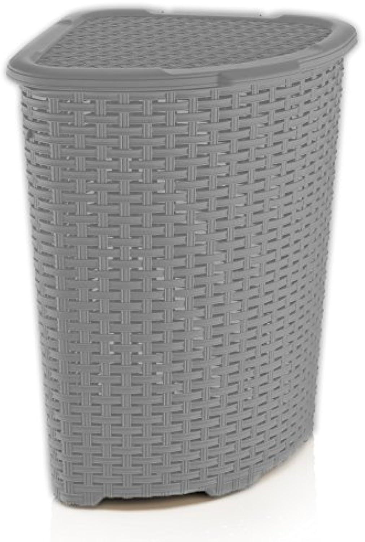 Brand Rattan 1.47 Bushel Corner Laundry Hamper
