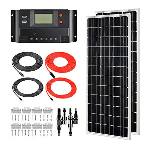 RICH SOLAR 200 Watts 12 Volts Monocrystalline Solar Kit