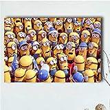 QAQTAT Minions Cartoon Movie Character Impresión en Lienzo Cartel Pintura Imágenes Arte de la Pared Bar Mural Decoración del hogar 50 * 75cm (Sin Marco)