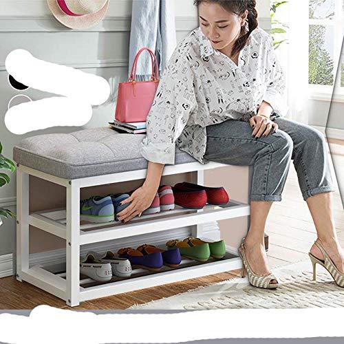 EUIWTUAJVN Zapatero de 2 niveles para puerta de casa, pasillo, entrada, asiento de asiento, silla, almacenamiento de zapatos, color negro, Australia