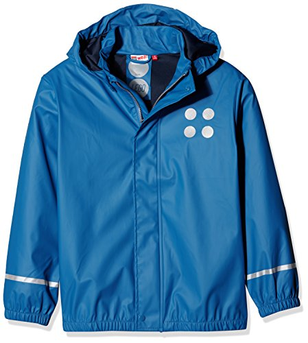 Lego Wear Jungen Jonathan 101-RAIN Jacket Regenjacke, Blau (Blue 556), 128