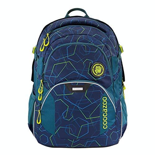 coocazoo Schulrucksack JobJobber Laserbeam Blue, blau, ergonomischer Tornister, höhenverstellbar mit Brustgurt und Hüftgurt für Jungen ab der 5. Klasse, 30 Liter