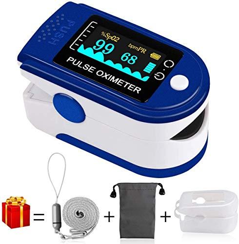 Pulsoximeter, Finger oximeter Sauerstoffsättigung Messgerät Messen Pulsoximeter für die Messung des Puls und der Oximeter am Finger(Blue)