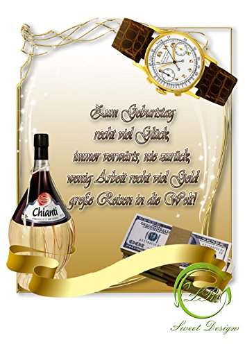 Uhr und Geld Tortenaufleger,Geburtstag,Tortendeko