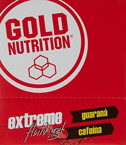 GoldNutrition Extreme Fluid Gel Sportergänzungsmittel, Erdbeer- und Bananengeschmack, 24 x 40 g, insgesamt 960 g