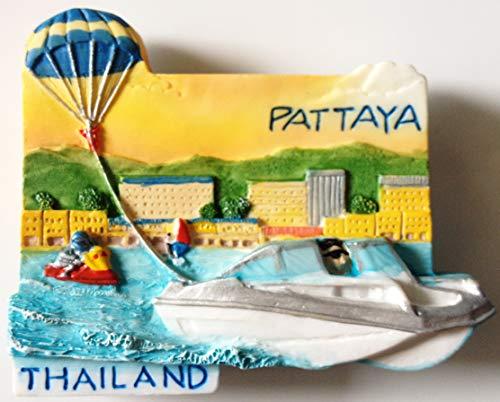 Pattaya Tailandia resina de alta calidad 3d imán de nevera nevera tailandés hecho a mano Craft.
