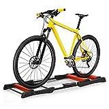 homcom Rullo da Allenamento Biciclette Trainer Pieghevole, Rullo Anteriore Regolabile, Max. Carico 120kg, Rosso e Nero