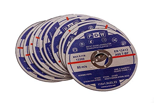 10 INOX Trennscheiben für Trenn-/ oder Winkelschleifer - Ø 115 mm Wellendurchmesser/INOX/Flexscheiben