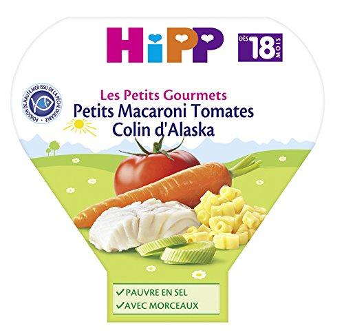 Hipp Biologique Les Petits Gourmets Petits Macaroni Tomates Colin Alaska dès 18 mois - 6 assiettes de 260 g