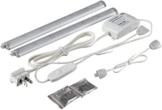Commercial Electric 12 in. LED Silver Under Cabinet Light (2-Pack)