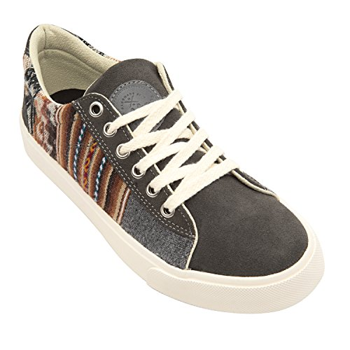 Cusco Low Top Sneakers for Men & Women - Handcrafted Artisan Womens & Mens Casual Shoes - Lightweight & Comfortable Womens/Mens Shoes in Brown - Canvas Low Top Sneaker w/Insole Arch Support
