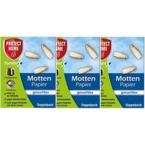 Preisvergleich Produktbild PROTECT HOME Forminex Mottenpapier - geruchlos - 3 x Doppelpack für Textilien UVM