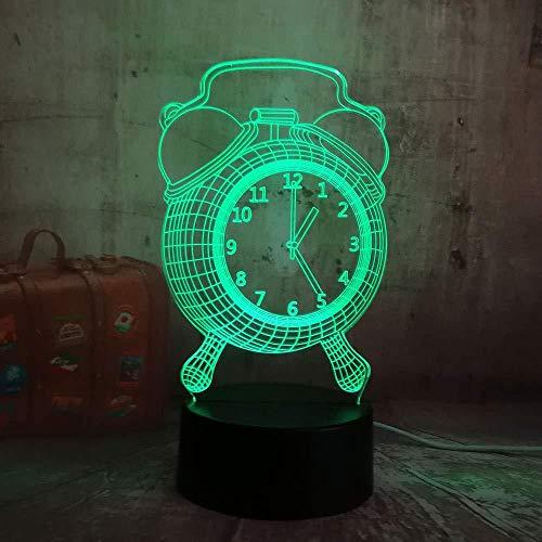 Dias Presentatie van 3D licht/klok wekker lamp LED 3D bureau nachtlamp voor kinderen slaaplamp voor baby Kerstmis decoratie thuis nachtlampje USB to