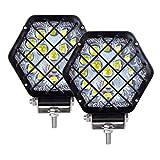 AUXTINGS 13.5 cm 5 pulgadas 48W Negro LED Light Pods Pod Light Spot Pod Off Road Luces de...