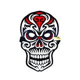 SoundActivatedLEDHalloweenMask Music Reactive Light up Detective Fox Panther Robot Skull Props for Party and Festival (Skull)