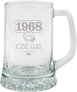 Calledelregalo Regalo para Hombres por su cumpleaños, Aniversario, Navidad, Día del Padre. Jarra de Cerveza Personalizada ...