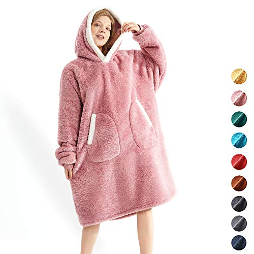 Oversided Blanket SweatshirtComfortable Giant Hoodie for Women Men KidsOne Size Sherpa Hooded Sweatshirt Blanket UltraSoft Warm Cozy Oversized HoodieHoody Wearable Blanket Sweatshirt