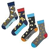 soxo Herren Bunte Socken | Größe 40-45 | 4er Pack | Baumwolle Männersocken mit Lustigen Motiven | Ideal für Hohe und Flache Schuhe | Tolle Ergänzung für Ihre Garderobe |...