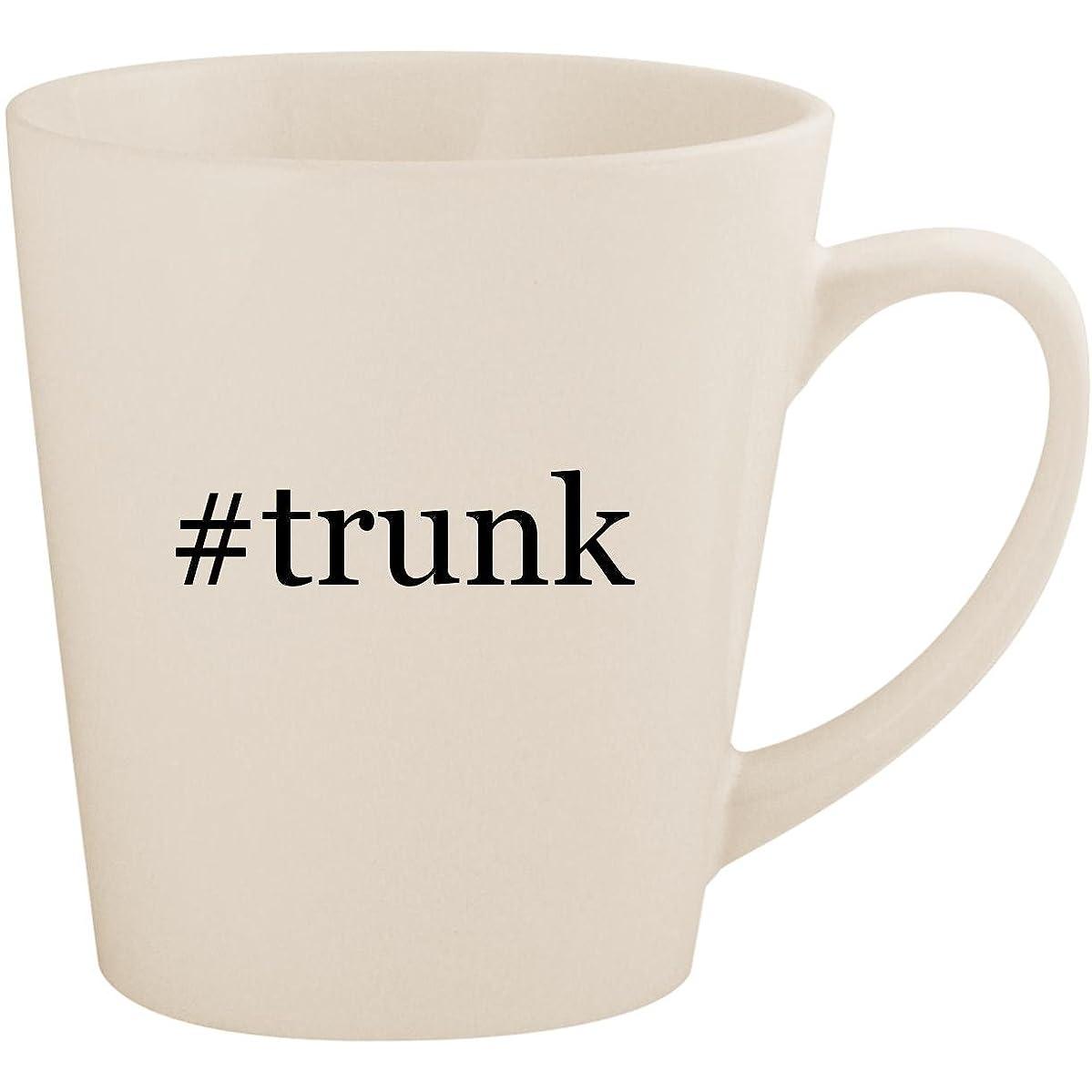#trunk - White Hashtag 12oz Ceramic Latte Mug Cup