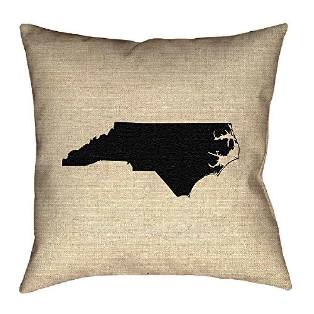 精算秘密の富ArtVerse Katelyn Smith North Carolina 26 x 26 Pillow-Spun Polyester [並行輸入品]