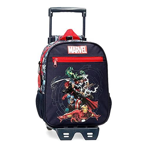 Marvel Los Vengadores Avengers Team Mochila con Carro Azul 23x28x10 cms Poliéster 6,44L